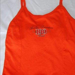 Orange Harley Davidson tank top
